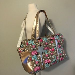 Betsey Johnson Weekender Travel Shoulder Bag